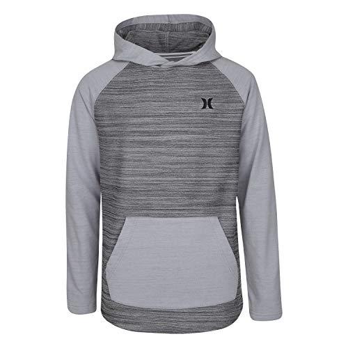 Hurley Boys' Pullover Hoodie, Grey, 5