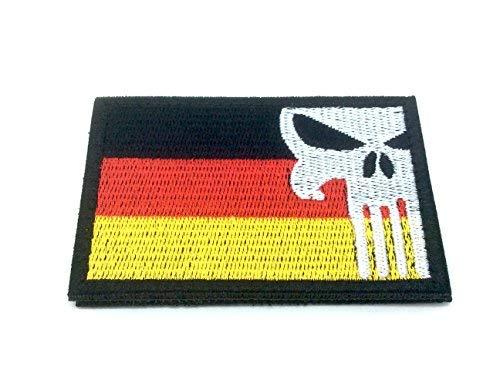 Patch Nation Deutschland Deutsch Punisher Gestickte Airsoft Klettverschluss-Flecken