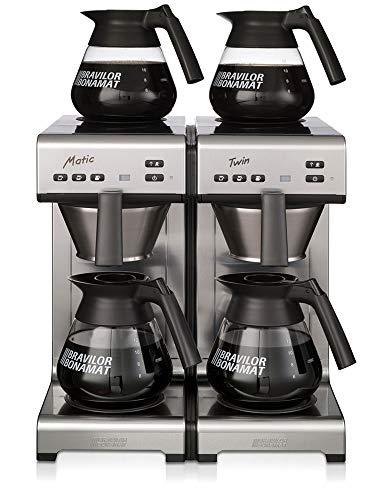 Bonamat Matic Twin Kaffeemaschine Festwasser inkl. 4 Glaskannen 1,7l 230V