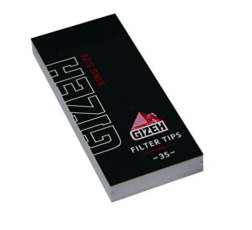 Gizeh Black Filter Tips regular King Size Wide breite Tips 12x Booklets
