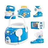 STOBOK 6 Piezas Electrodomésticos para Niños Juego de Cocina Olla Arrocera Licuadora Picadora de Carne Máquina de Tostar Horno Microondas Jugar Accesorios de Cocina para Niños Pequeños