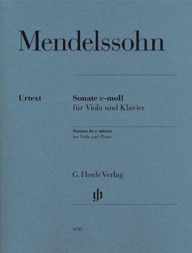 Sonate c-moll für Viola und Klavier