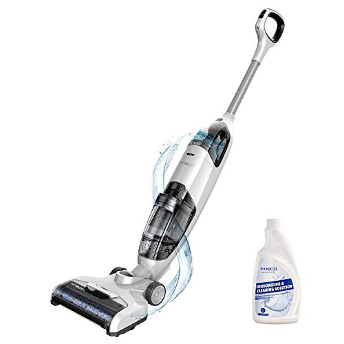 Tineco iFloor Powerful Cordless Wet Dry Vacuum Cleaner, Lightweight Hard Floor Washer with Self-Cleaning Brush