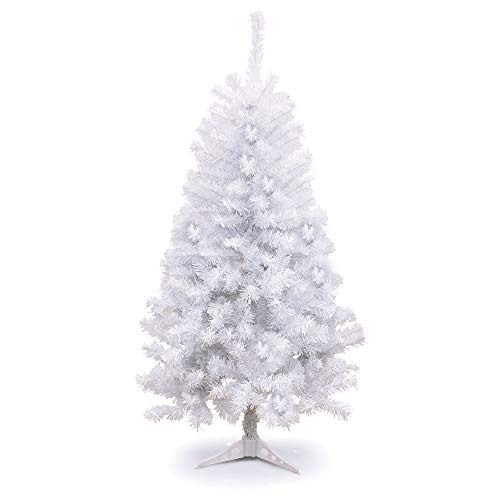 Holiday Essence 4 Foot White Artificial Christmas Tree - 300 Tips with PVC Base - Unlit