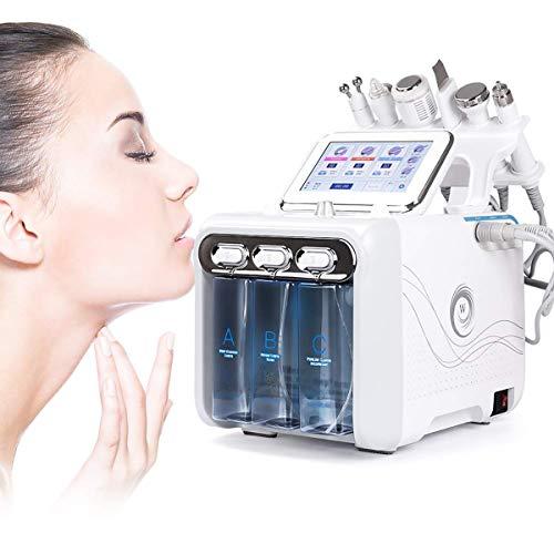Pequeña burbuja de oxígeno máquina de la belleza, De chorro de agua de inyección, El peróxido de hidrógeno Cuidado de la piel, 6 en 1 Suciedad rejuvenecimiento facial de limpieza de la espinilla