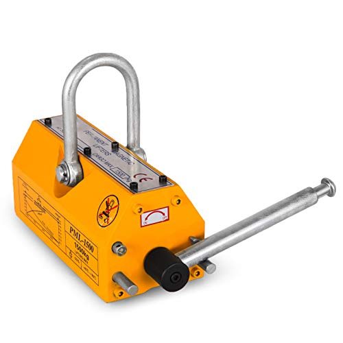 Happybuy Steel Magnetic Lifter 3300 LB Metal Lifting Magnet 1500 KG Neodymium Magnetic Lift Hoist Shop Crane(1500KG)