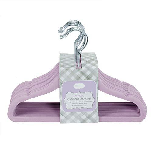 Home Expressions Children's Ultra Thin Premium 25 Pack Velvet Hangers (Lavender)