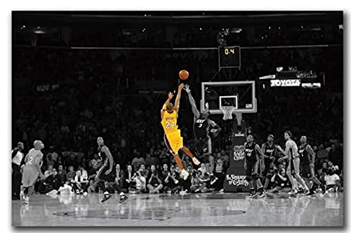 TTbaoz Black and Yellow NBA Match Jugador de Baloncesto Kobe Bryant Posters JigsawPuzzle 1000 Piezas Juguetes para Adultos compssion (38 * 26cm)