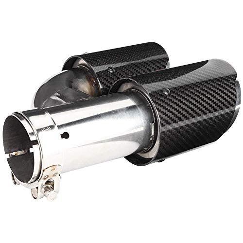 DC CLOUD Coche Punta De Escape De Tubo De Cola Doble Muy Pulida Caída La del Silenciador Negro De 60mm