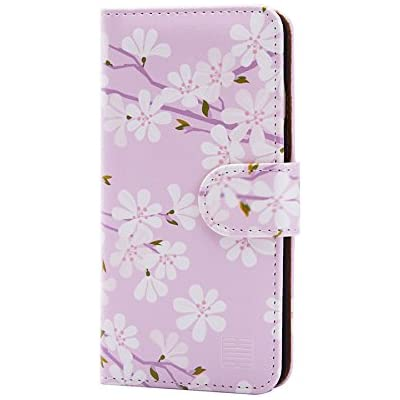 Cheap 32nd Floral Series Design Pu Leather Book Wallet Case Cover For Apple Iphone 6 6s Designer Flower Pattern Wallet Style Flip Case With Card Slots Cherry Blossom,Geometric Design Patterns For Kids