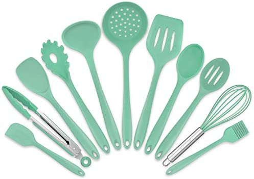 Homikit 11 Pieces Cooking Utensils Set Silicone Kitchen Utensil Spatula Set for Nonstick Cookware product image