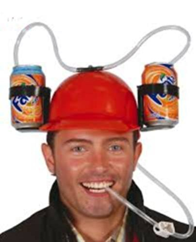 Cappello Porta birre - elmetto per bibite colore ROSSO