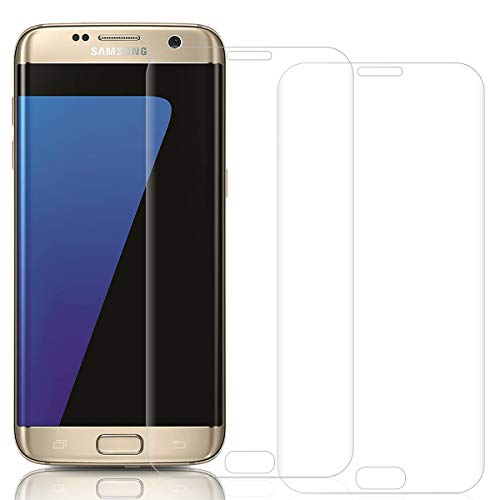 Three-Tree Panzerglas Schutzfolie für Samsung Galaxy S7 Edge, [2 Stück] 9H Härte, 3D Vollständige Abdeckung Panzerglasfolie, Anti-Kratzen Anti-Öl Displayschutzfolie Glasfolie für Samsung S7 Edge