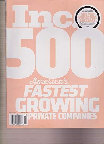 inc 500 magazine september 2014 - 2