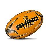 Rhino Cyclone XV Ballon d'entraînement de Rugby Orange Fluo Taille 4