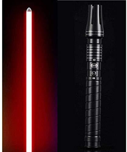 YYZQMCU Sable de luz duelo, espada luminosa, juguetes de lucha, accesorios de vestir Force FX, regalo de cumpleaños para niños, mango de aluminio, con sonido, luz roja