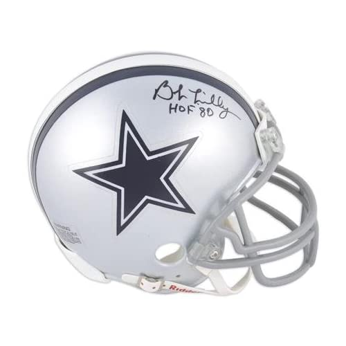 a7a77fd3f95 Bob Lilly Dallas Cowboys Autographed Mini Helmet with HOF 80 Inscription -  Fanatics Authentic Certified