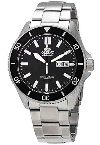 Orient RA-AA0008B Men's Kano Stainless Steel Black Bezel Black Dial Automatic Dive Watch