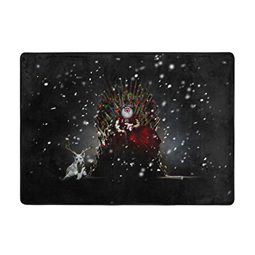 Game Thrones Fine Digital Print Flannel Floor Mat Non-slip And Hard-Wearing Carpet Suitable For Bedroom Living Room Office (80 X58 X 0.47 inch)