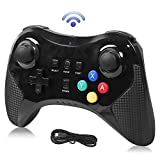 Pro Controller for Wii U, Dlunsy Wireless Controller Bluetooth Gamepad Connected to Wii U Console Dual Analog Joystick