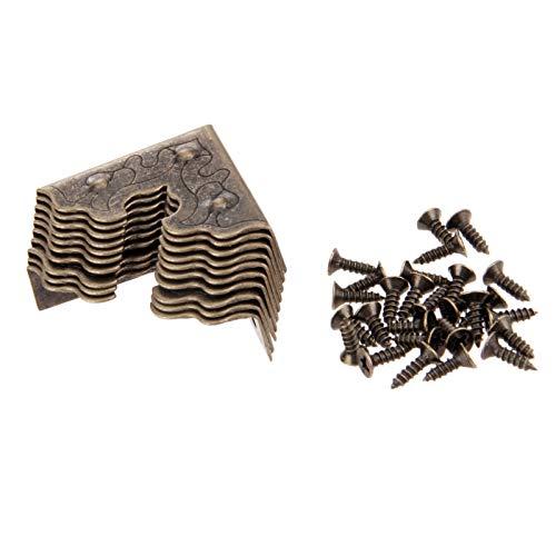 YAYANG Angle Bracket 10 unids Muebles Crafts Metal Caja de joyería Caja de Esquina Caja de Madera Protector de Esquina Cornería Decorativa 25mm Durable in Use. (Color : Color A)