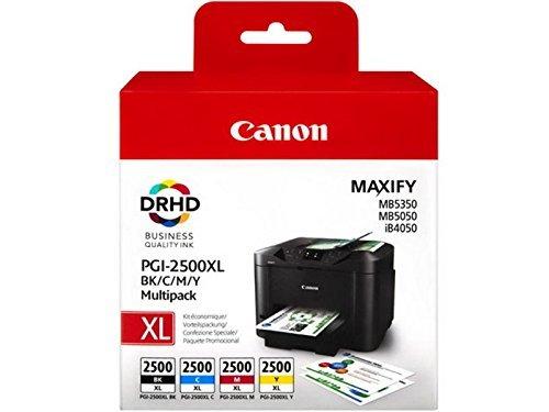 1x Satz Original Tintenpatrone Canon PGI-2500 für Canon Maxify MB 5050 - BK, Cy, Ma, Ye - -