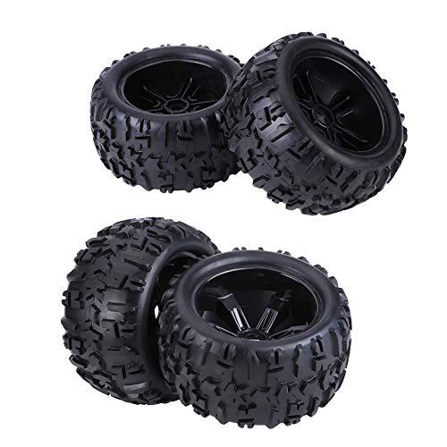 Zouminy Rubber Tire banden & kunststof naaien velgen accessoires voor 1/8 RC Truck Car