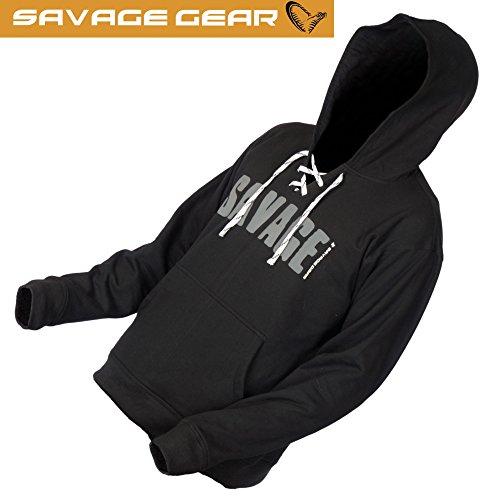 Savage Gear Simply Savage Hoodie Pullover - Angelpullover, Kapuzenpullover für Angler, Angelbekleidung, Hoody für Raubfischangler, Größe:XXL