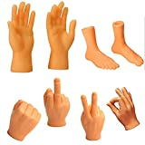 S& Tiny Hands(8 Pcs)-Novelty Toys-Small Toys Mini Finger Toys-Puppet Tiktok Prank Game Toys, Carnival Gifts, Fun and Realistic Gifts, Creative Toys for Children
