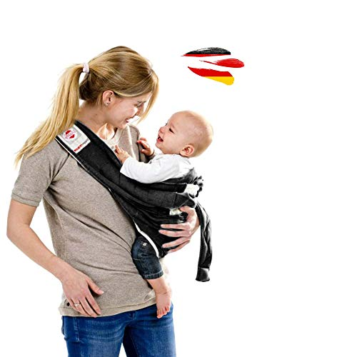 Lodger Shelter 2, 3in1 Babytragetuch, Babysling sowie Transportdecke Trage-Tuch für Babys und Eltern, ab Geburt bis 18 Monate, max. 12kg