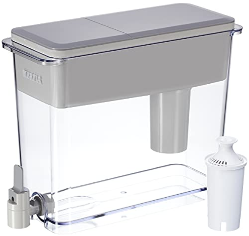 Brita Standard UltraMax Water Filter Dispenser, Gray, Extra Large 18 Cup, 1 Count