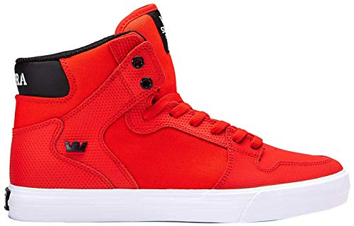 Supra Unisex-Erwachsene Vaider Hohe Sneaker, Rot (Risk RED/Black-White-M 693), 41 EU