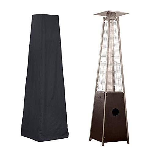 Luckystar4you Housse pour Chauffage de Terrasse - Housse pour Parasol Chauffant de Style Pyramidal, Noir