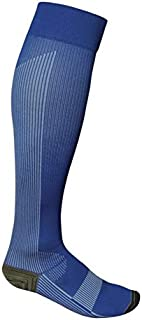 Total Vein Systems BOOST Individual Recreational 20-30 mmHg Athletic Compression Therapy Socks, 1 pair, Blue / Blue, Size A