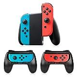 Manette Switch Joy-Con Grips, Timoom 3 Psc Manette Nintendo Switch Coque de Protection Contrôleur Jeu Poignées Kit, Avec Paume Incurvée Réduisant Fatigue pour Switch Joy-Con