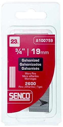 Senco A100759 23-Gauge x 3/4-Inch Electro Galvanized Headless Micropins