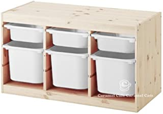IKEA TROFAST(トロファスト)収納コンビネーション パイン材 ホワイト/ホワイト 94x44x52cm PY-WS3WM3