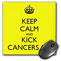 3dRose Mouse Pad Keep Calm and Kick Cancers Ass - 8 by 8-Inches (mp_157443_1) [並行輸入品]
