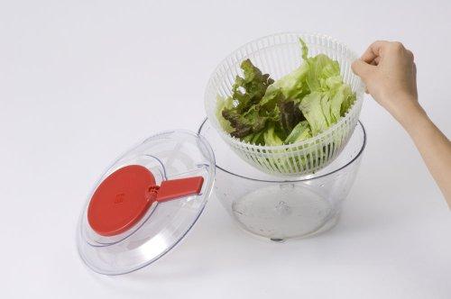 ワールドクリエイト野菜水切りサラダスピナー日本製レッドViV径21×H14cmSサイズ