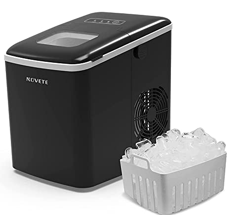 Countertop Ice Maker, NOVETE Portable Ice Machine, 9 Ice Cubes Ready in 6...