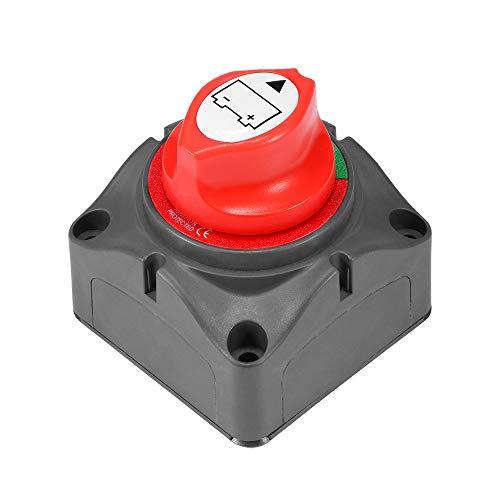 ALLOMN Interruptor de Apagado Automático de la Batería del Automóvil, 12V/24V 300A Universal Interruptor del Aislador Batería Interruptor de Corte a Prueba de Agua para el Barco Marino de Automóviles