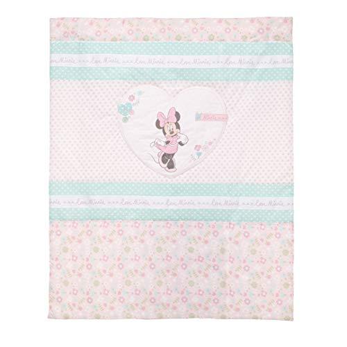 Disney Minnie Mouse avec couette et bord de berceau Ensemble (Rose)