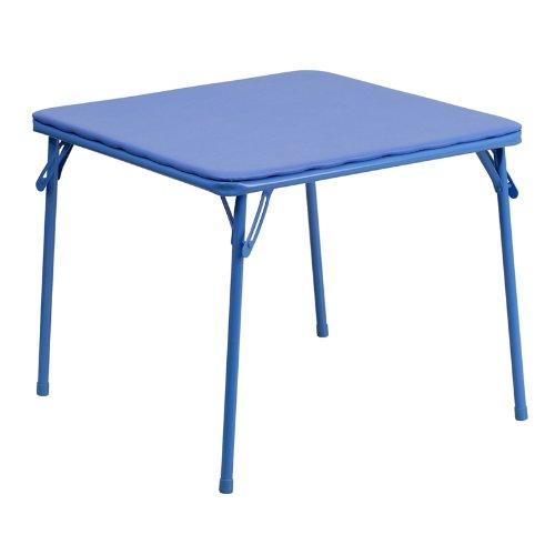 Flash Furniture JBTABLEGG  Kids Blue Folding Table24quotD x 24quotW x 2025quotH