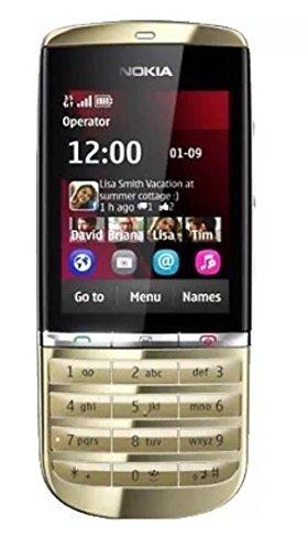 Nuovo Nokia asha 300 Gold touch screen sbloccato telefono cellulare