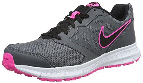 Nike Wmns Downshifter 6 Scarpe da Ginnastica, Donna, Grigio (Dark Grey/Black-Pink blast-Wht), 44.5