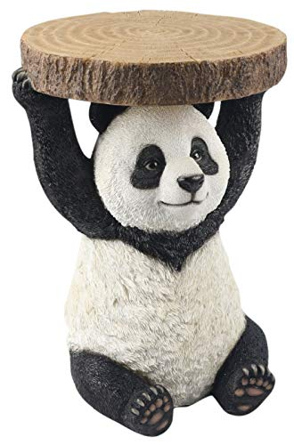 Middle-England 34.5cm Panda Side Occasional Table Plant Stand Bear Statue Figure Polystone