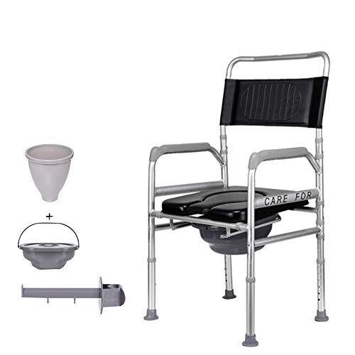 Toilet chair Silla Inodoro PortáTiles, Silla De Ducha Plegables para Adultos, Cojines Desmontables,