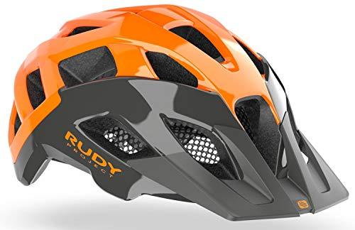 Rudy Project Crossway Casco da bicicletta Lead/arancione fluo Shiny, circonferenza testa L | 59 – 61 cm 2021