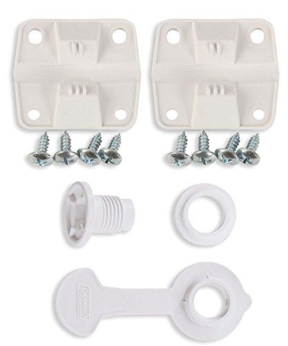 Coleman Cooler Plastic Hinge Set & Standard Drain Plug Assembly Combo/Bundle
