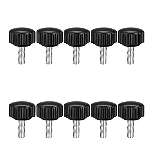 uxcell M5 x 30mm Male Thread Knurled Clamp Knobs Grip Thumb Screw on Type Round Head 8 Pcs